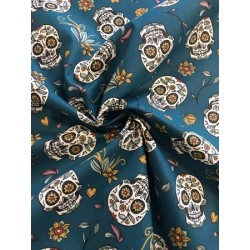 Tissu coton cretonne calavera