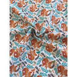 Tissu coton cretonne renard MIA