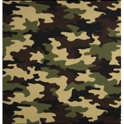 Tissu french terry motif armée