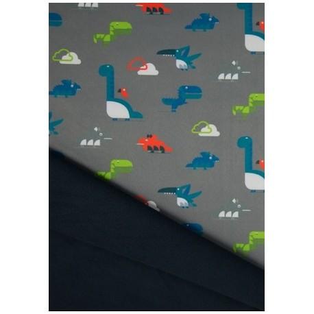 Tissu softshell motif dinosaures