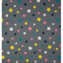 Tissu softshell motifs étoiles x 50cm