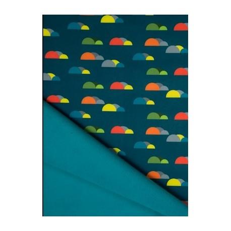 Tissu softshell nuages colorés x 50cm