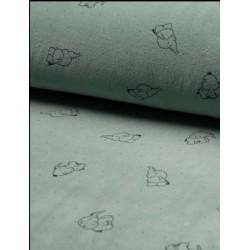 Tissu velours nicky motifs éléphants x 50cm