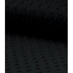 Tissu polaire minky noir
