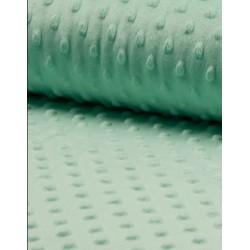 Tissu polaire minky mint x 50cm