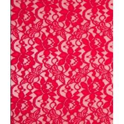 Tissu dentelle Lace candy coloris rouge x 50cm