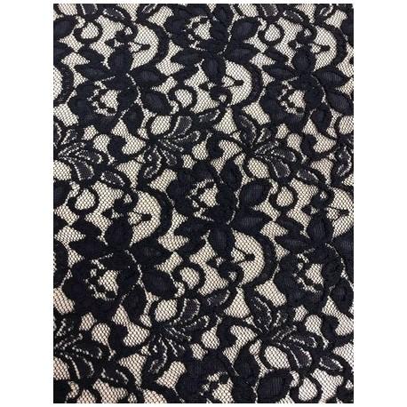 Tissu dentelle Lace candy coloris noir x 50cm