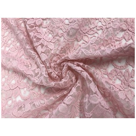 Tissu dentelle Lace candy coloris nude x 50cm