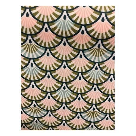Tissu enduit ginza rose x 50cm