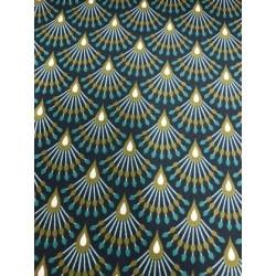 Toile enduite ginza vert x 50cm