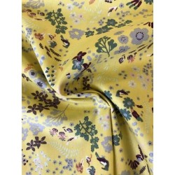 Tissu popeline mélange de fleurs x 50cm