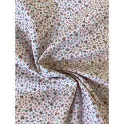Tissu coton cretonne fleurs PM x 50cm