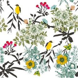 Fleurs sauvages velours x 50cm