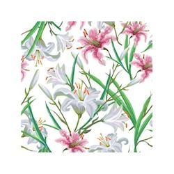 iris rose et blanc GM velours x 50cm