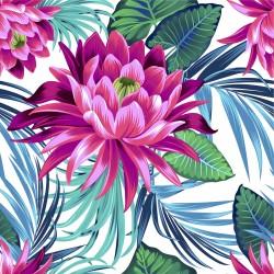 Fleurs de lotus velours x 50cm