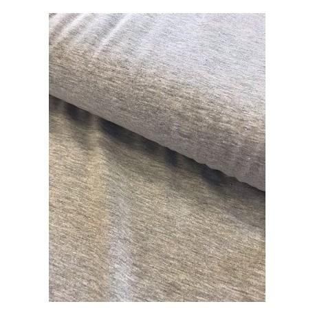 Jersey uni gris clair chiné x 50cm