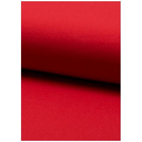 Jersey uni rouge x 50cm