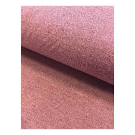 Jersey uni rose chiné x 50cm