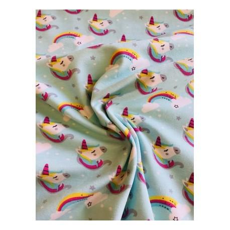 Jersey motif licorne x 50cm