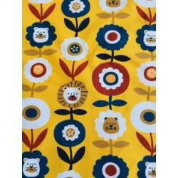 Jersey motif tête de lion vintage x 50cm