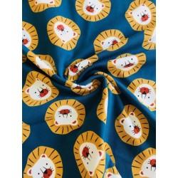 Jersey motif tête de lion x 50cm