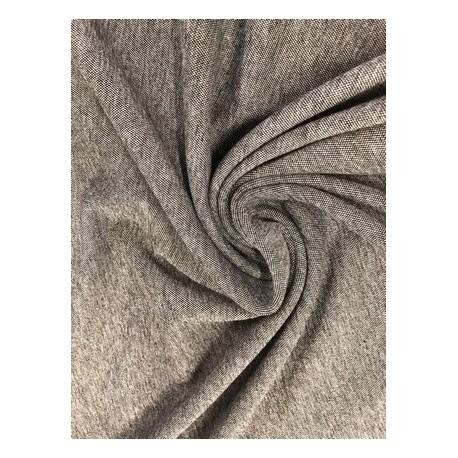 Jersey épais gris chiné x 50cm