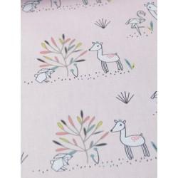 """Tissu coton """"Effie"""" motifs biche et animaux origami x 50cm"""