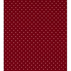 Tissu coton petits pois bordeaux x50cm