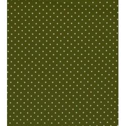 Tissu coton petits pois kaki x50cm