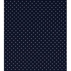 Tissu coton petits pois bleu marine x50cm