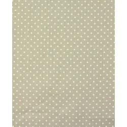 Tissu coton petits pois taupe x50cm