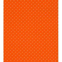 Tissu coton petits pois orange x50cm