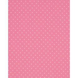 Tissu coton petits pois rose x50cm