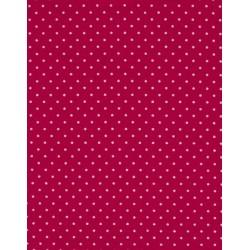 Tissu coton petits pois fuschia x50cm