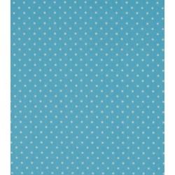 Tissu coton petits pois bleu clair x50cm