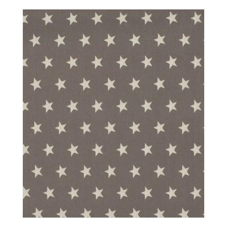 Tissu coton étoiles gris anthracite x 50cm