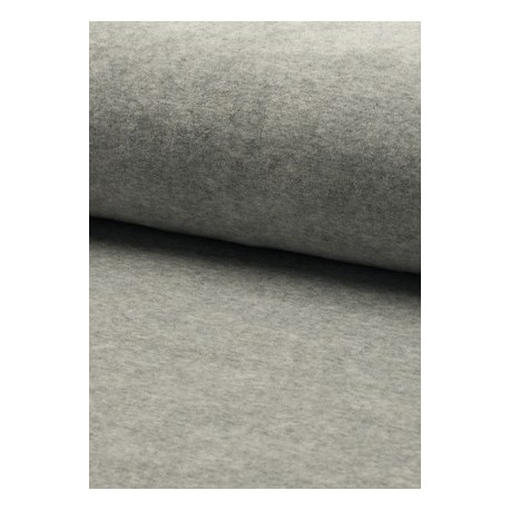 Tissu velours nicky gris x 50cm