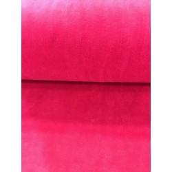 Tissu velours nicky fuschia x 50cm