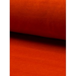 Tissu velours nicky orange x 50cm
