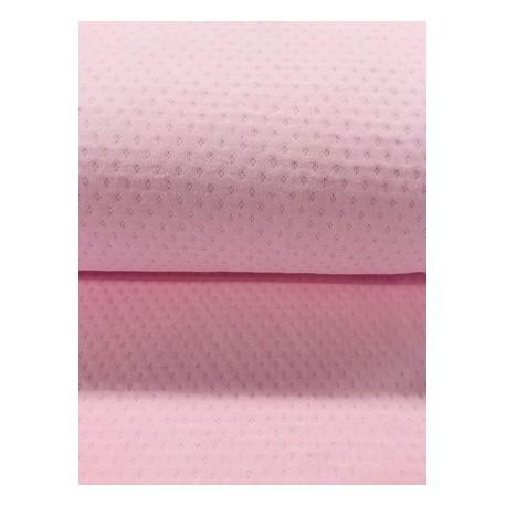 Tissu ajouré rose x 50cm
