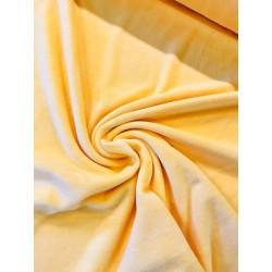 Tissu velours nicky jaune clair x 50cm