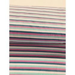 Tissu velours rayures rose bleu x 50cm