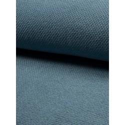 Tissu waffle bleu x 50cm