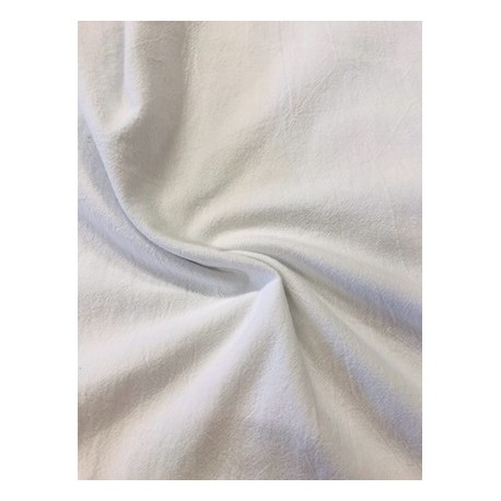 Tissu coton uni blanc x 50cm