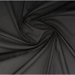 Tissu filet mesh noir x 50cm