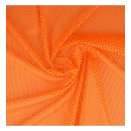 Tissu filet mesh orange x 50cm