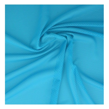 Tissu filet mesh turquoise x 50cm