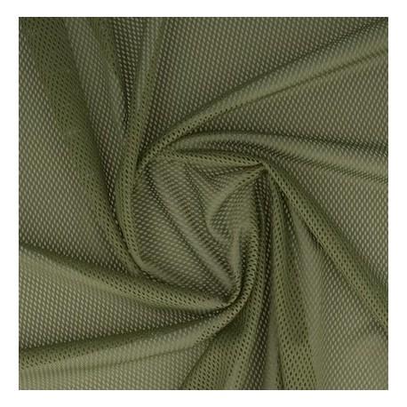 Tissu filet mesh kaki x 50cm