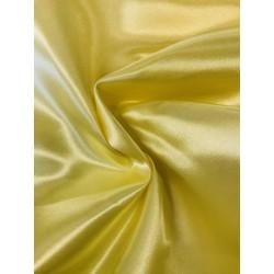 Tissu satin jaune pâle x 50cm