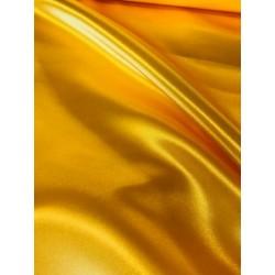 Tissu satin jaune x 50cm